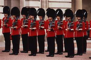 British guards- take a funny picture with one