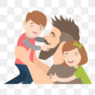 Father Father And Son Father And Daughter Fathers Day Png And Vector In 2021 Father Images Cartoon Background Love For Son