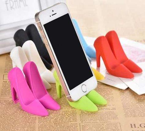 Mobile Porta Telefono Moderno.Soporte Apoyo Para Celular De Silicona Forma De Zapato Tacos