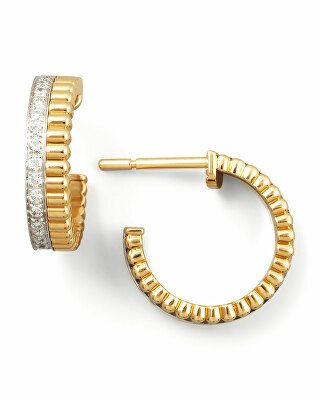 Mia Diamonds 14k Yellow Gold Polished Scalloped Hoop Earrings