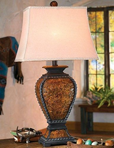 Tooled Leather Old West Rustic Lamp Western Lighting
