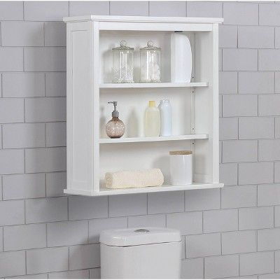 Dorset Wall Mounted Bath Storage Cabinet With Two Open Shelves White Alaterre Furniture In 2021 Bathroom Wall Shelves Bathroom Wall Cabinets Diy Shelves Bathroom Wall mounted bathroom shelves