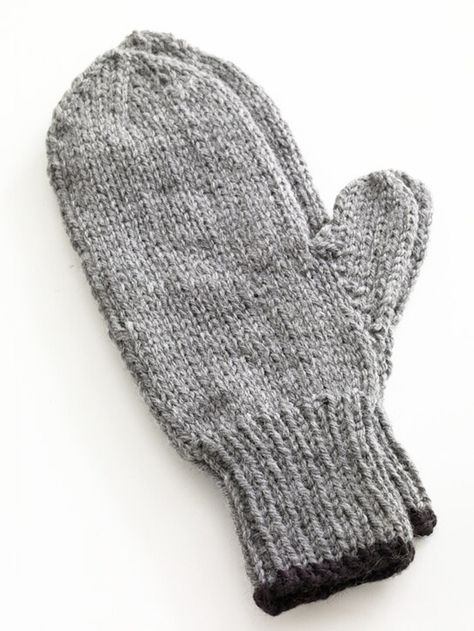 Toasty Knitted Mittens In Lion Brand Wool Ease 80677ad Free