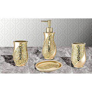 Canora Grey Sayers Lotion Pump Soap Dispenser Bathroom Accessory Set Bathroom Accessories Bathroom Decor Luxury