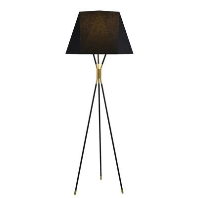Everly Quinn Charlbury 73 Tripod Floor Lamp Finish Black Floor Lamp Shades Tripod Floor Lamps Arched Floor Lamp