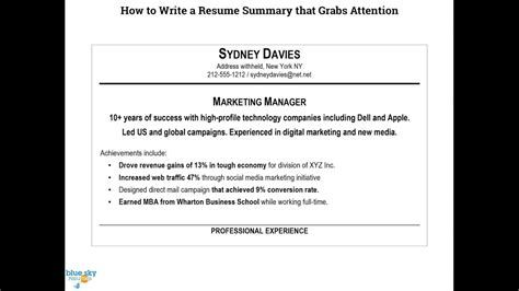 How To Write A Great Resume Examples How To Write A Resume Summary 780 Maxresdefault How Resume Summary Resume Writing Examples Resume Examples