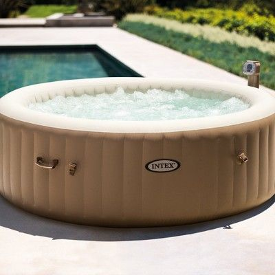 Intex Inflatable Pure Spa 6 Person Heated Bubble Jet Hot Tub