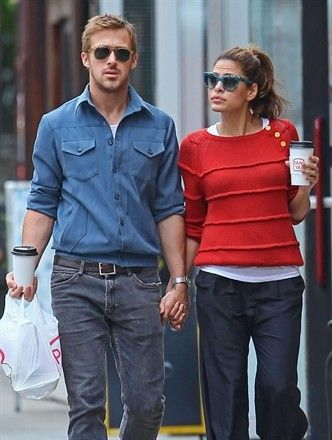Pair red sweater with navy pants and  Ryan Gosling or a look alike. Same thing.