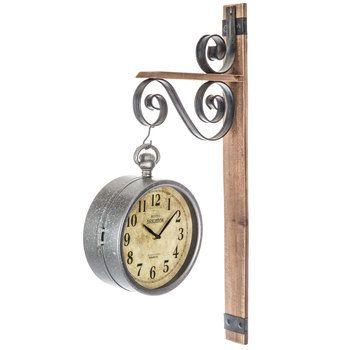 Dual Face Metal Wall Clock Metal Wall Clock Clock Wall Decor