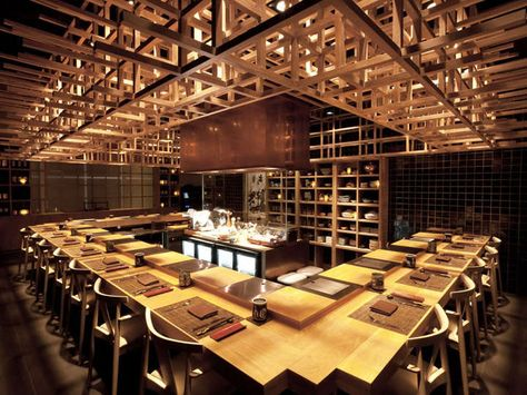 The Fat Cow Restaurant by Brewin Concepts. The interior design here makes extensive use of grids.