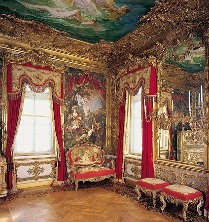Schloss Linderhof Westliches Gobelinzimmer Gobelinzimmer Linderhof Schloss Westliches Linderhof Palace Palace Interior Castles Interior