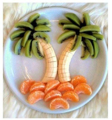 New fruit appetizers for kids treats 40 Ideas Fruit Appetizers, Fruit Snacks, Breakfast Appetizers, Cute Food, Good Food, Fruit Platter Designs, Platter Ideas, Fruit Designs, Kiwi And Banana
