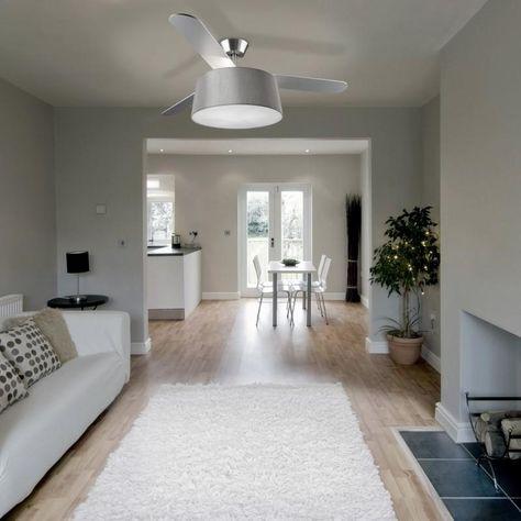 Modern Ceiling Fan With Drum Light Shade Light Shades Contemporary Ceiling Fans Ceiling Fan