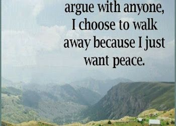 Life walk away from my When to