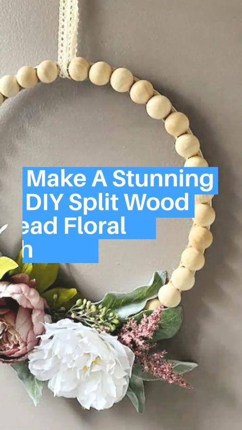 Easy Split Wood Bead Floral Wreath