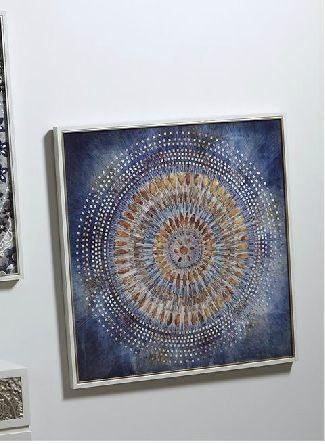 Mandala Azul Invierno En 80x80x3cmNovedades Otoño Oro Cuadro CxerdoB