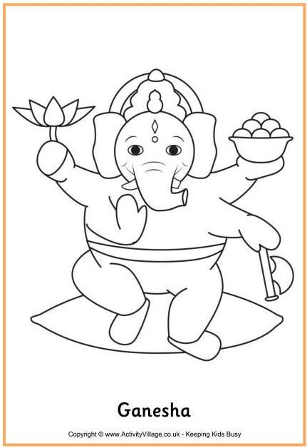 Here S A Coloring Page Of Ganesha Or Lord Ganesh One Of The