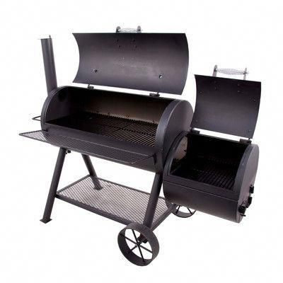 Oklahoma Joe S Longhorn Offset Charcoal Grill With Smoker Charcoal Grill Grilling Outdoor Kitchen Design