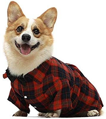 Amazon Com Fitwarm Western Plaid Dog Shirts For Pet Clothes Polo