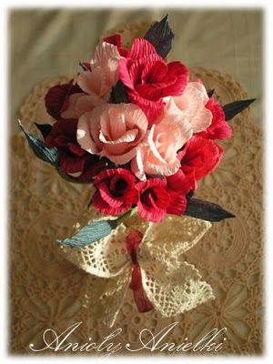 Pin On Diy Kwiaty Z Bibuly Krepiny Papieru
