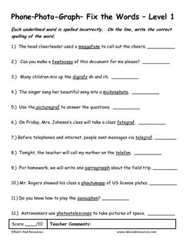 Differentiated Greek Roots Spelling & Vocab Packet - Phon ...