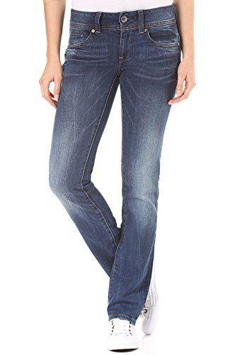 G Star Raw Damen Straight Jeans Midge Saddle Mid Waist Blau Medium Aged 071 W30 L36 Herstellergrosse 3036 Straight Jeans G Star Fashion