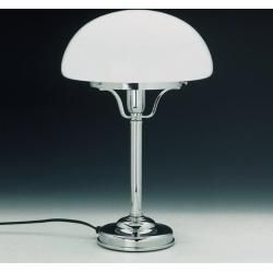 Lms Tischleuchte In Pilzform Mit Glasschirm Opal Weiss Tl 10chrom D 18wohnlicht Com In 2020 Lamp Table Lamp Novelty Lamp