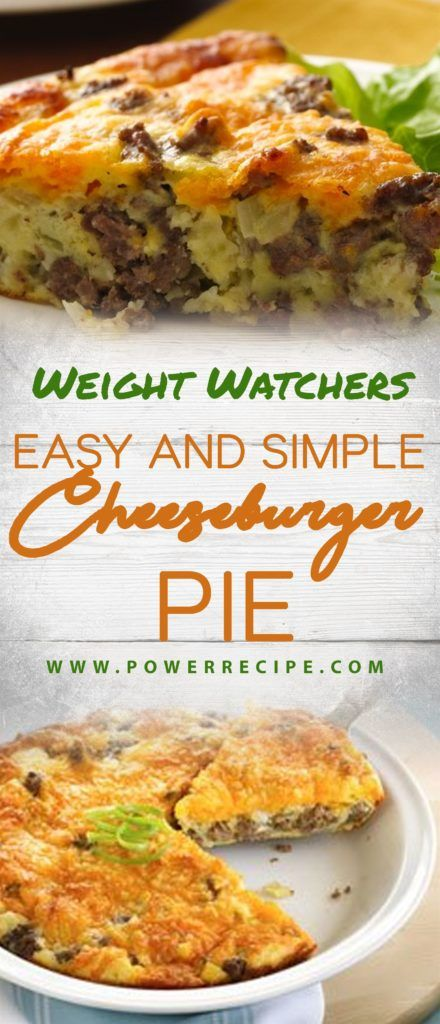 This Is My Delicious And Easy To Make Cheeseburger Pie Recipe You Il Needs A Grou Weight Watcher Ground Beef Recipe Ground Beef Recipes Easy Beef Recipes Easy