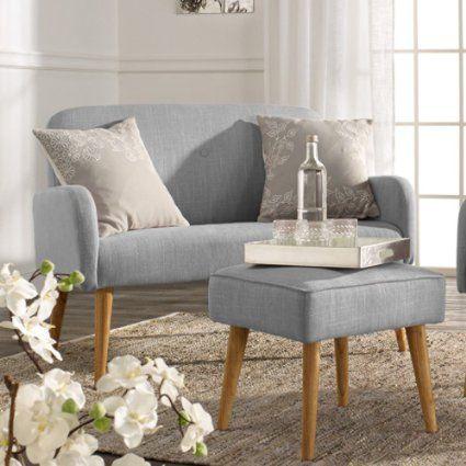 Miavilla Sitzbank Mila Mit Lehne Retro Look Altrosa Kuchen Sofa Sitzen Wohnzimmer