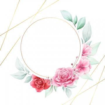إطار الزهور المائية أنيقة لشعار الزفاف بطاقة زهري يدعو Png والمتجهات للتحميل مجانا Flower Frame Flower Illustration Wedding Frames