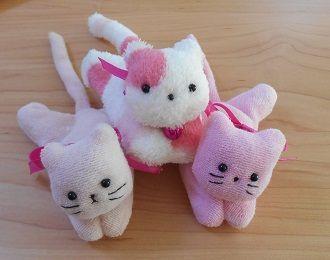 ねこクリップ 動物クリップ 竿ばさみ利用 いろいろ 作り方 型紙 日々の楽しみ 洗濯バサミ 猫 手作りぬいぐるみ ぬいぐるみ 手作り