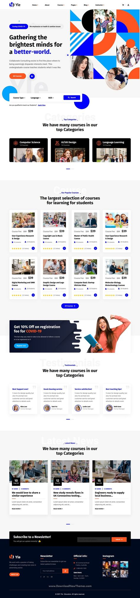 Best 4in1 Education and LMS Bootstrap Template