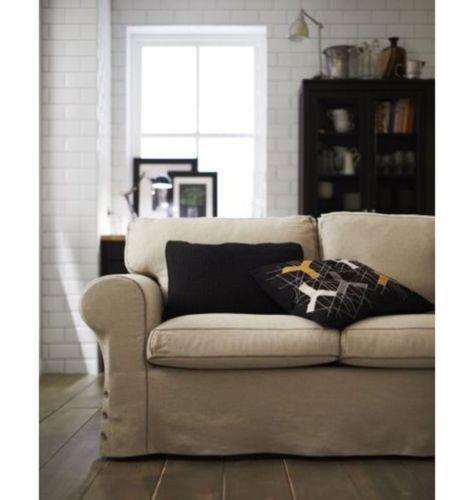 Ikea Ektorp Loveseat Nordvalla Dark Beige Seat Cushions Filled With High Resilience Foam And Polyester Fiber Wadding P Love Seat Ikea Sofa Loveseat Covers