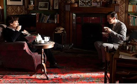 |Sherlock, saison 2, épisode 3: The Reichenbach Fall. Looking like the best of friends. #bbcsherlock #tea