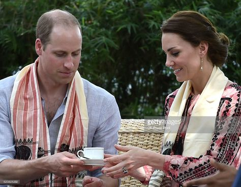 Catherine, Duchess of Cambridge and Prince William, Duke of Cambridge visit the Centre for Wildlife Rehabilitation and Conservation at Kaziranga National Park on April 13, 2016 in Guwahati, India.