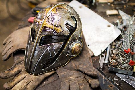 custom Knight Templar mask helmet medieval LARP cosplay comic con renaissance fair elf orc armor