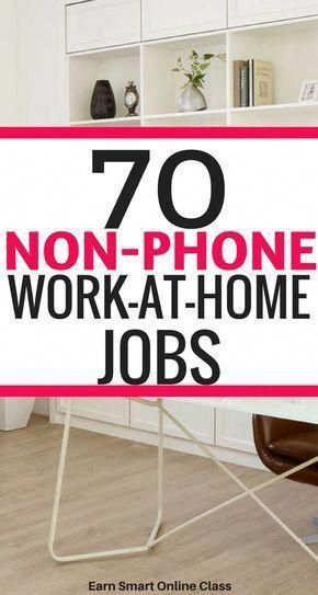 70 Non Phone Work From Home Jobs Hiring Make Money From Home