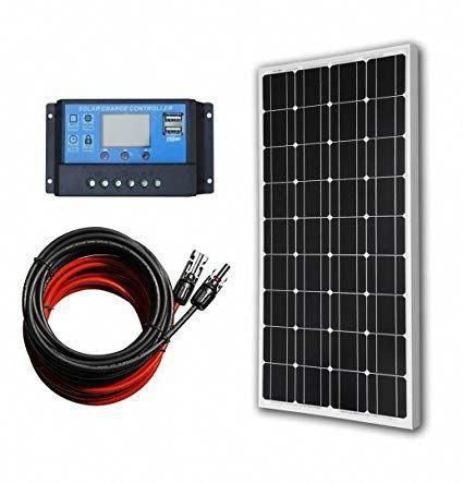 Eco Worthy 12 Volt 100 Watt Monocrystalline Solar Panel Kit With 20a Lcd Charge Controller Rev In 2020 Monocrystalline Solar Panels Solar Power Panels Solar Panel Kits