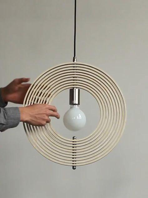 Globe Pendant Light, Pendant Light Fixtures, Wood Pendant Light, Suspension Diy Luminaire, Diy Lampe, Diy Crafts For Home Decor, Diy Chandelier, Lamp Design, Wood Design