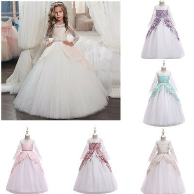 Kinder Mädchen Blumenmädchen Prinzessin Kleid Festkleid Hochzeit Kommunion Party
