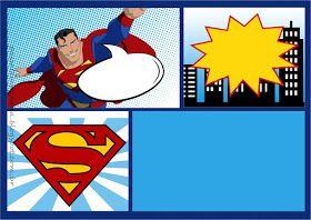 Superman Comic Kit Para Imprimir Gratis Invitaciones De