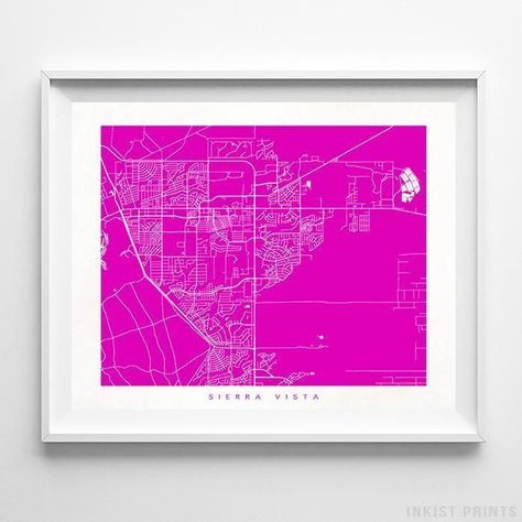 Sierra Vista Arizona Street Map Print En 2018 Usa Street Map Wall