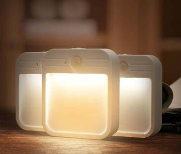 3er Paket Mobile Led Sensor Nachtlicht Base Aufladbar Nachtlicht Edelstahlblech Treppenlicht