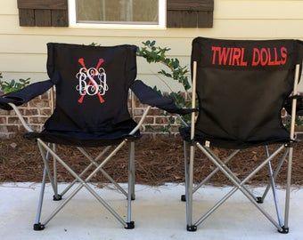 Monogrammed Chair Coaches Gift Custom Folding Camp Chair Rv