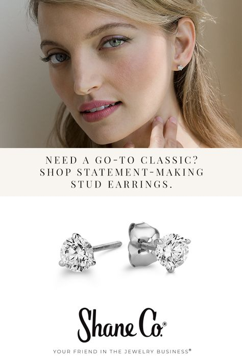 16e734a82 A staple of any jewelry box. Our diamond studs are conflict-free and  sparkle more, all because we select the best stones to make sure you get  the prettiest ...