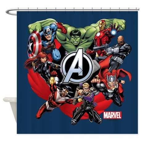 Avengers Group Shower Curtain Funny Shower Curtains Superhero Bathroom Boys Bathroom Decor