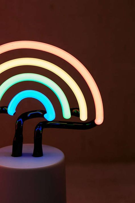 Mini Rainbow Neon Sign Table Lamp (With images) | Lamp