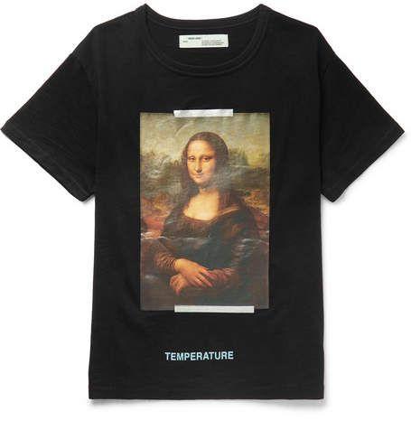 090cfdab0 Off-White Mona Lisa Oversized Printed Cotton-Jersey T-Shirt