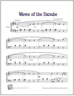 Waves of the Danube (Ivanovici) | Learn Piano Tips | Easy