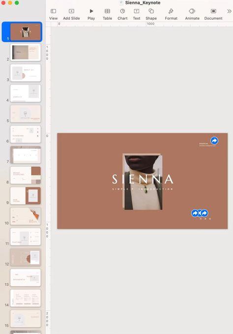 Aesthetic Keynote Design Template